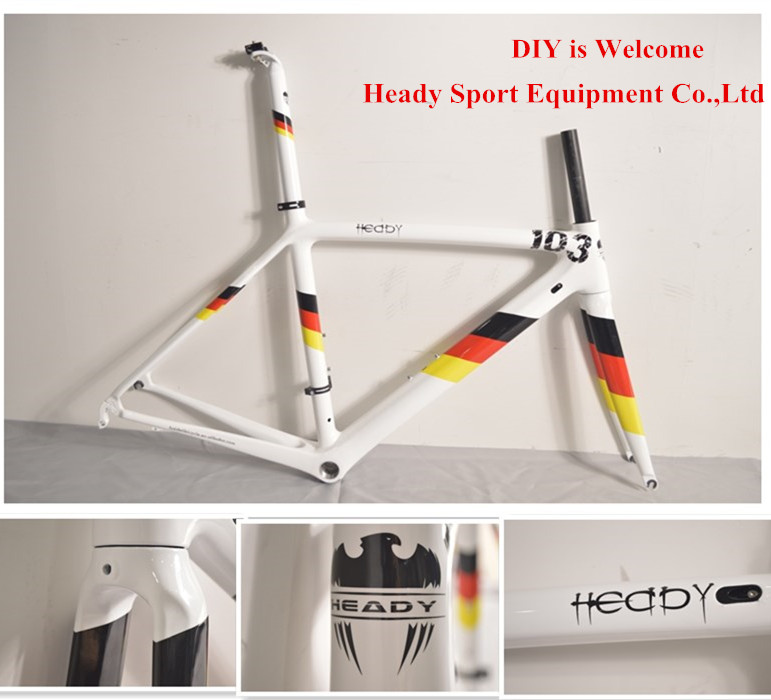 2015 New Painting Road bike carbon frame heady full carbon road frame carbon fiber cycling frame multi color free shipping<br><br>Aliexpress