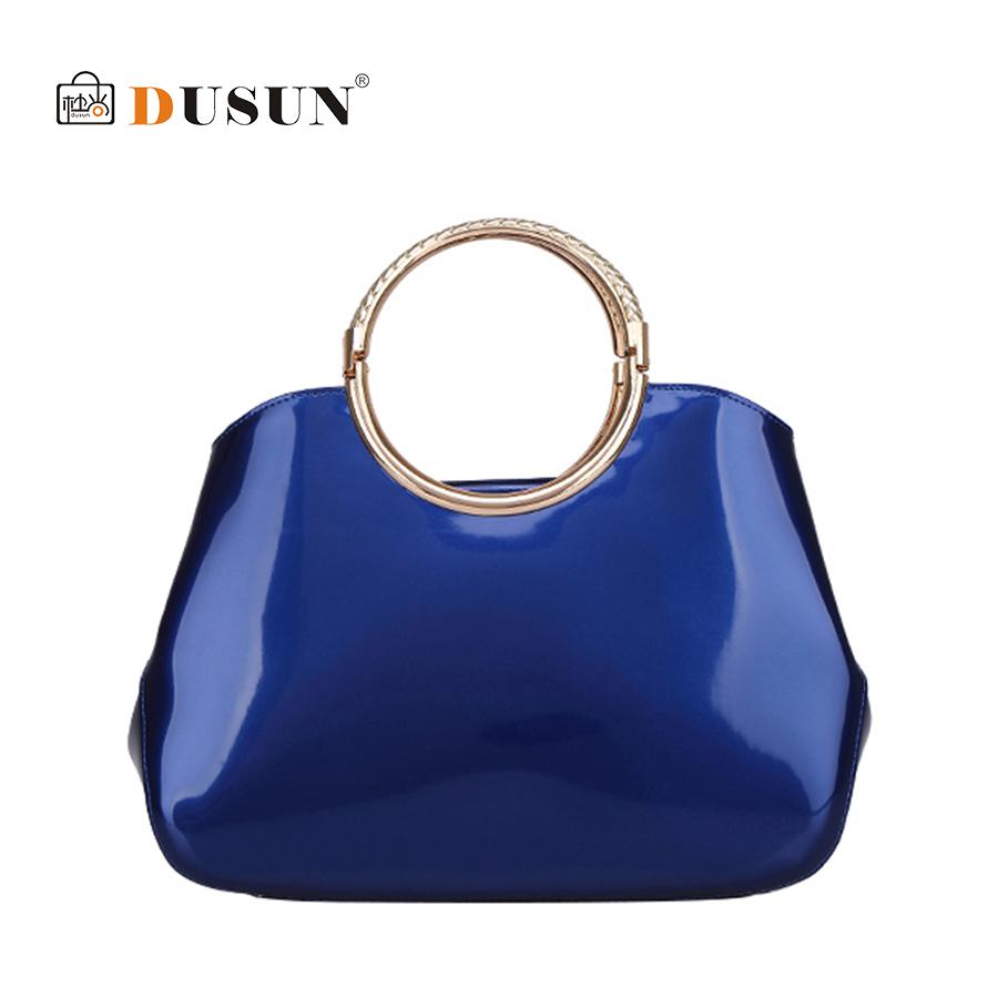 DUSUN Luxury Design Women Handbag Patent Leather Pure Fashion Wristlet Women Bag Large Tote Glossy shoulder bags Bolsas Feminina<br><br>Aliexpress