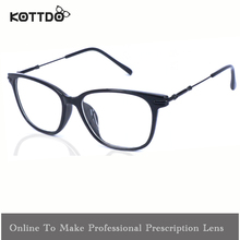 New Vintage Eyeglasses Unisex Square Designer Eyeglasses Metal Spring Arm Optical Cool Eye Glasses Frame oculos de grau D16