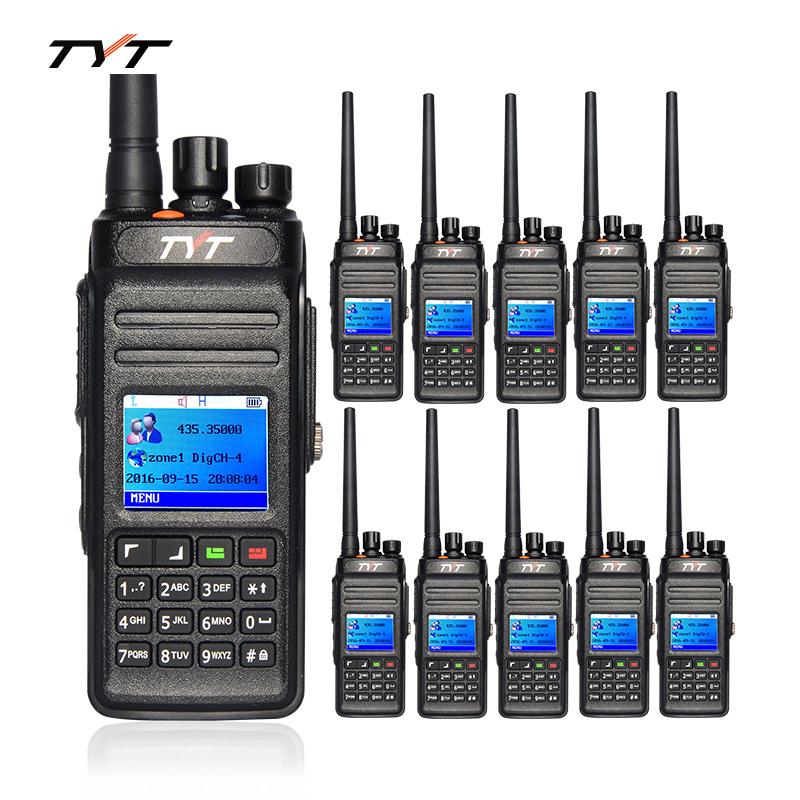 10pcs TYT DM398 DMR Digital Radio Walkie Talkie 10W UHF 400-470MHz Waterproof IP67 Portable Two Way Radio CB Ham Radios(China (Mainland))