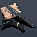 Black white Blade Mini Camping outdoors Knife Camping Fixed Blade Tactical Survival Pocket Knives fruit knife