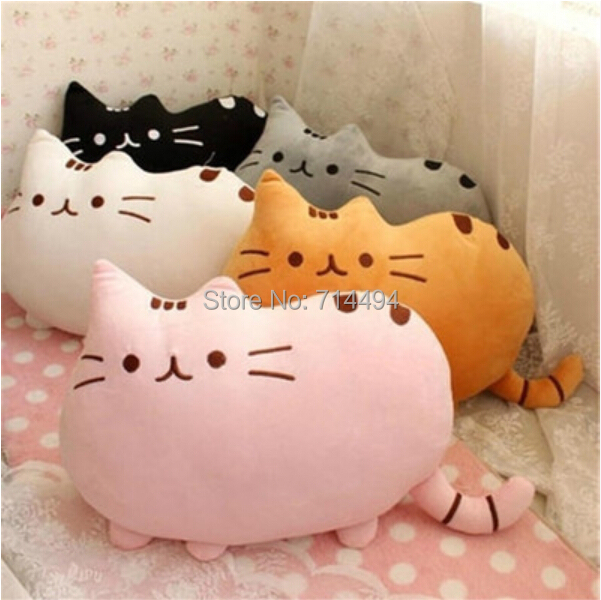40*30cm plush toy stuffed animal doll,talking anime toy pusheen cat or pusheen skin for girl kid kawaii,cute cushion brinquedos(China (Mainland))