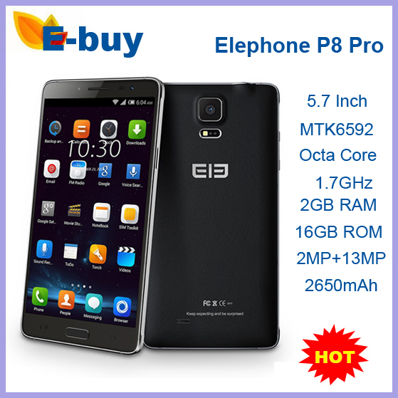 Original Elephone P8 Pro Android 4.4 MTK6592 Octa Core 5.7 Inch 720P HD 2GB RAM 16GB ROM 13MP Dual Sim 3G Mobile Phone Stock - E-Buy Store store