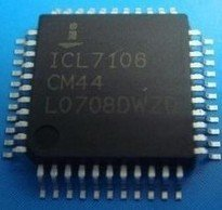 Free Shipping 10 PCS ICL7106CM44 QFP-44 ICL7106CM ICL7106 3 1/2 Digit, LCD/LED Display, A/D Converters(China (Mainland))