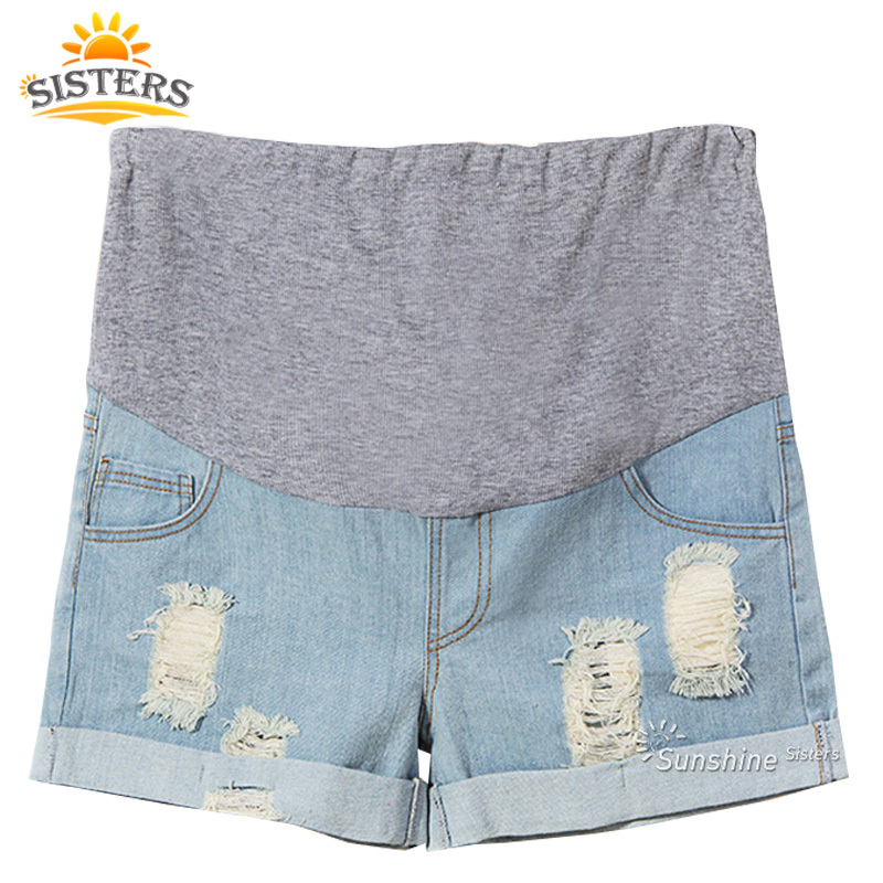 2015 Maternity Jeans Pants Summer For Pregnant Women Plus Size Clothing Pregnancy Clothes Shorts Belly Skinny Jeans Maternity(China (Mainland))