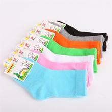 Children Cotton Socks For Girls Cute Candy Color Short Socks 2016 Autumn Winter Boy White Sport Socks Kid Black Socks(China (Mainland))