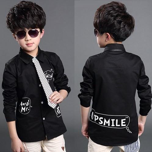 موضة 2015 لصبيان 2015-New-Children-s-Fashion-Summer-Style-font-b-Black-b-font-Clothes-font-b-Boys