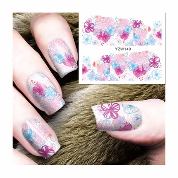 Water Transfer Nail Art Stickers Decals For Nail Tips Decoration DIY Fashion Nail Art Accessories 149