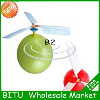 50pcs/lot kids toy self-combined Balloon Helicopter WJ017p