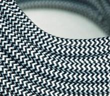 6 м/лот черно-белый цвет старинные ткани кабель текстильная подвесные лампы шнур питания