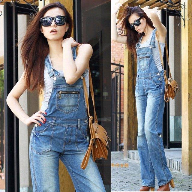 wholesale  plus size XXL -XL 2016 fashion skinny casual  light blue denim  sleevelsee overalls  Denim jumpsuits jean jumpsuit
