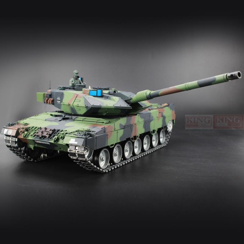 Heng Long 1/16 Germany Leopard 2A6 Green RC Tank Green Ultimate metal version With Smoke, Sound and BB Gun - 2.4GHz Version(China (Mainland))