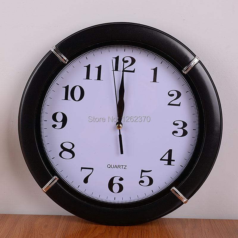 300*300 mm Round Brief Design Awall Clock Despertador Bathroom Kitchen Wall Relogio Digital Clocks Relogio De Parede Watch(China (Mainland))