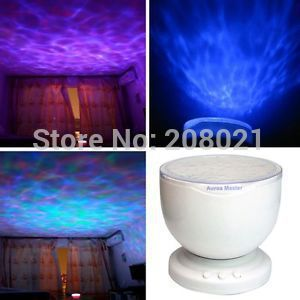 Multicolor 12 Light 8 Mode LED Ocean Wave Projector USB Lamp MP3 Speaker(China (Mainland))