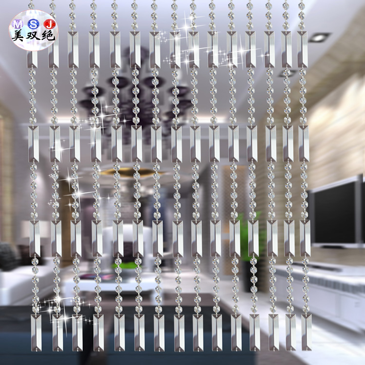 Bead curtain crystal partition curtain finished product crystal bead - Triangle Bar Beads Crystal Bead Curtain Entranceway