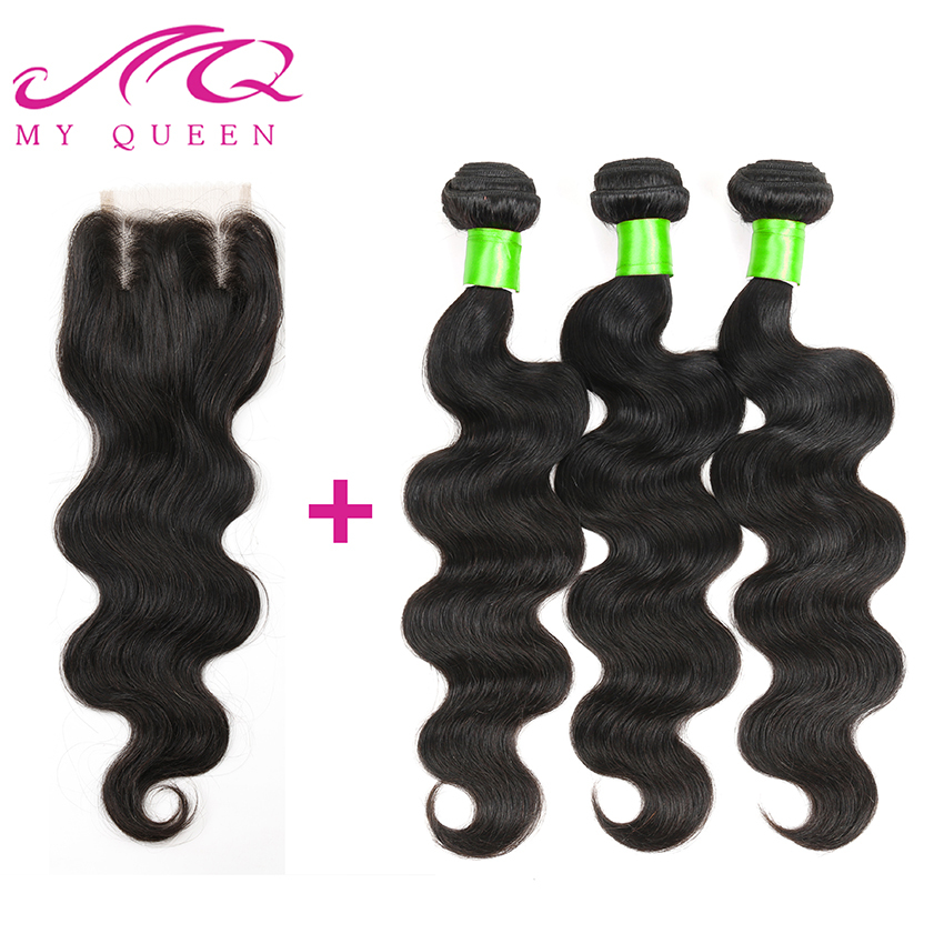 Здесь можно купить  Malaysian Body Wave With Closure 4Pcs/Lot Malaysian Virgin Hair 6A Cheap Unprocessed Hair Bundles Human Hair Weave With Closure  Волосы и аксессуары