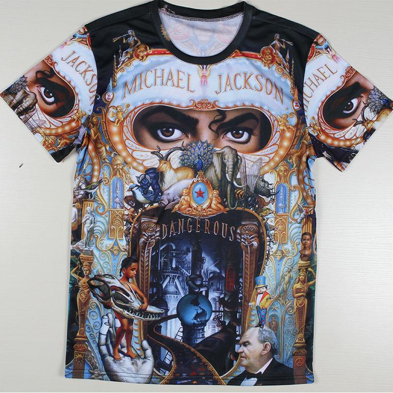 Men Michael Jackson Rock Print T-shirts The Big Bang Theory Sheldon Harajuku Blusas Summer Style T Shirts Plus Size Tshirts Tees(China (Mainland))