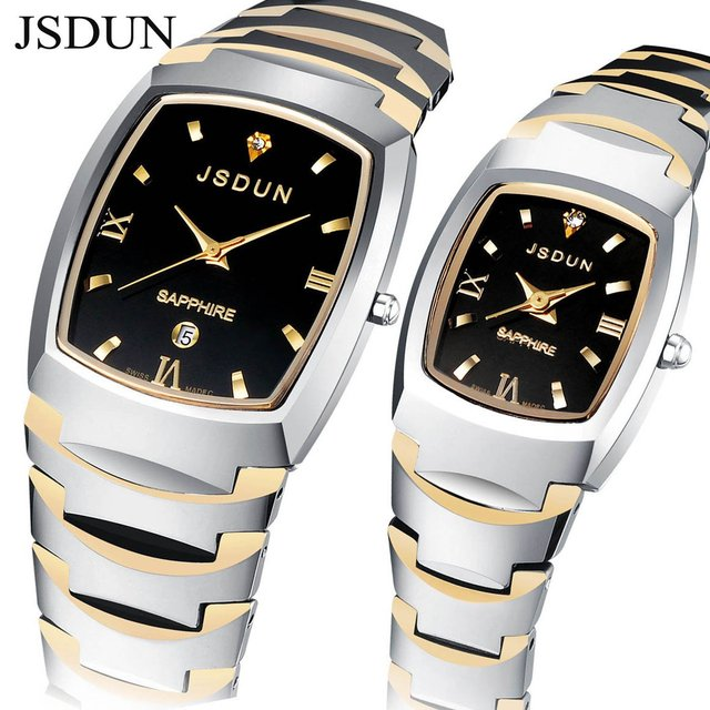JSDUN Brand Watch Tungsten Watches 2015 New Design Sapphire 3 ATM Water Resistant High Quality Quartz Wristwatch Table 8608