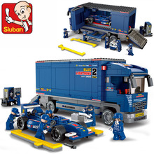Building Blocks Compatible with lego City Truck sluban f1 racing car Without Orignial Box& Education toys  brinquedos educativos(China (Mainland))