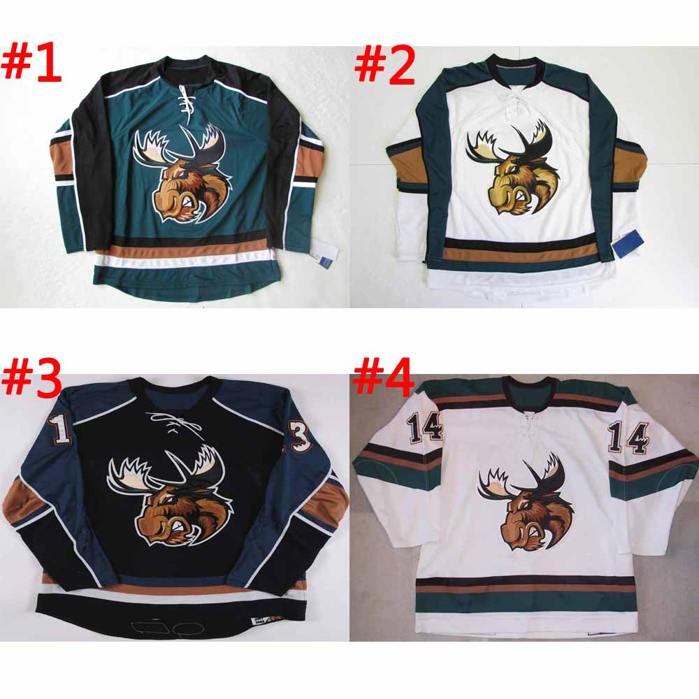 Customize AHL Manitoba Moose Hockey Jersey Ryan Miller / Sedin / Ryan Kesler Vancouver Canucks Jerseys Sewn On any name &amp; number<br><br>Aliexpress