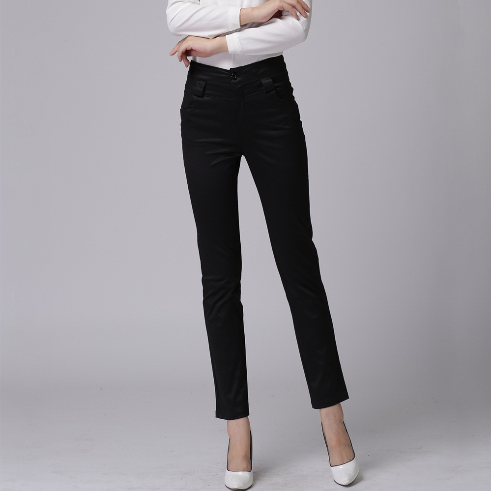 Original  With Shortened Slimfit Black Pants And Heeled Shiny Black Loafers