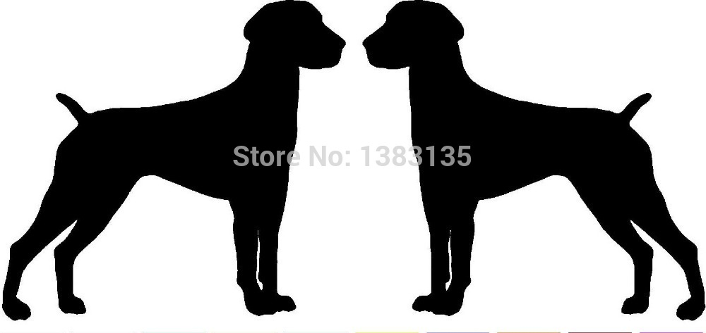 Hot Sale 2 German Shorthaired Pointer Dog Breed (right&left) Car Sticker For Window Door Vinyl Decal 8 Colors(China (Mainland))