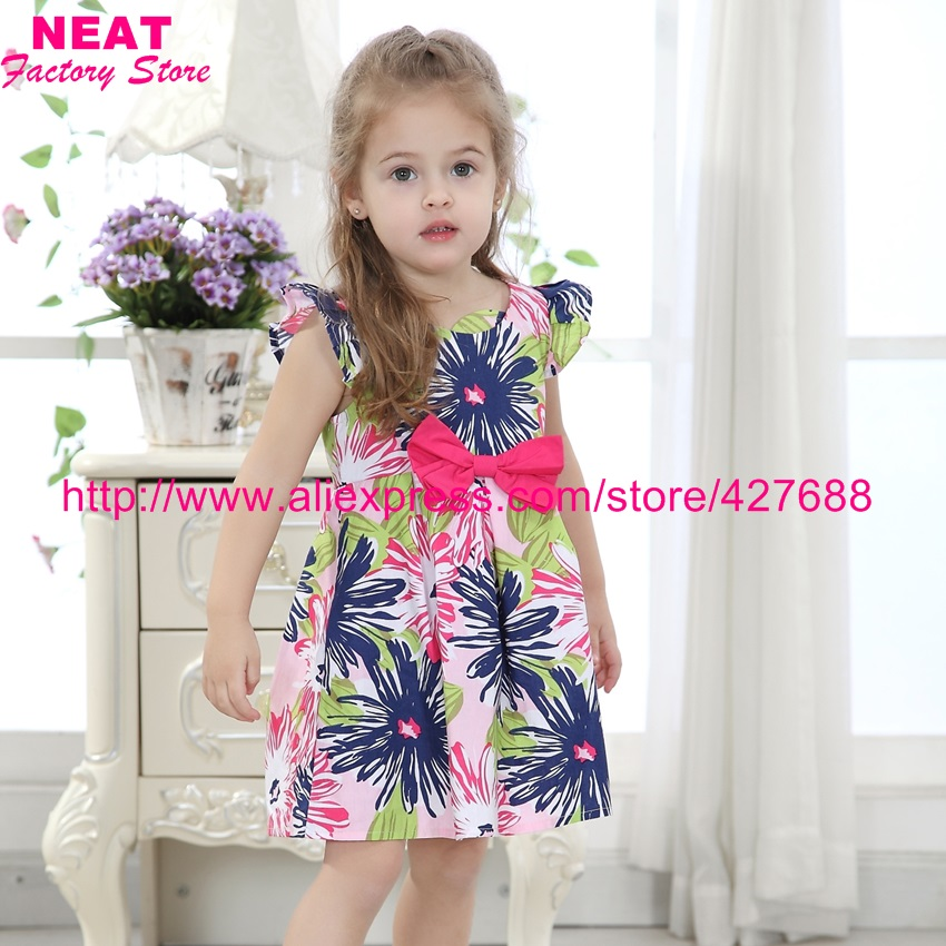 Retail 2017 NEW Nova Dress Baby Girl Tutu Princess Party Wedding Dresses Summer Vestido Lace Child Clothing Kid Wear X3125 Mix - NEAT Factory Store store