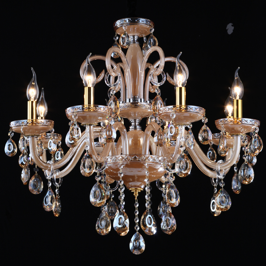 Morning imported crystal lamp chandelier penthouse floor living room european style crystal - Light fixtures chandeliers ...