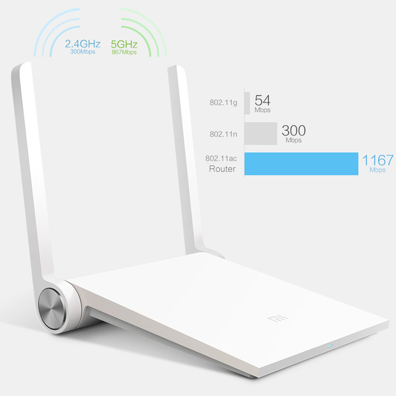 Portable Wifi Repeater For Xiaomi Router Mini MI Router Smart Router Dual-band 2.4GHz/5GHz Maximum 1167Mbps Support 802.11 AC<br><br>Aliexpress