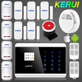 English Russian French Voice Dual Net Touch keypad TFT color Display GSM PSTN Dual Net Security