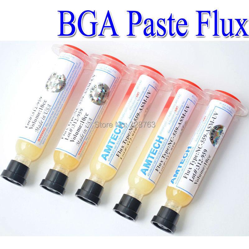 2/Pcs AMTECH NC-559-ASM-UV 10CC PCB BGA Soldering Paste Flux Solder Ball Flux Paste Free shipping(China (Mainland))
