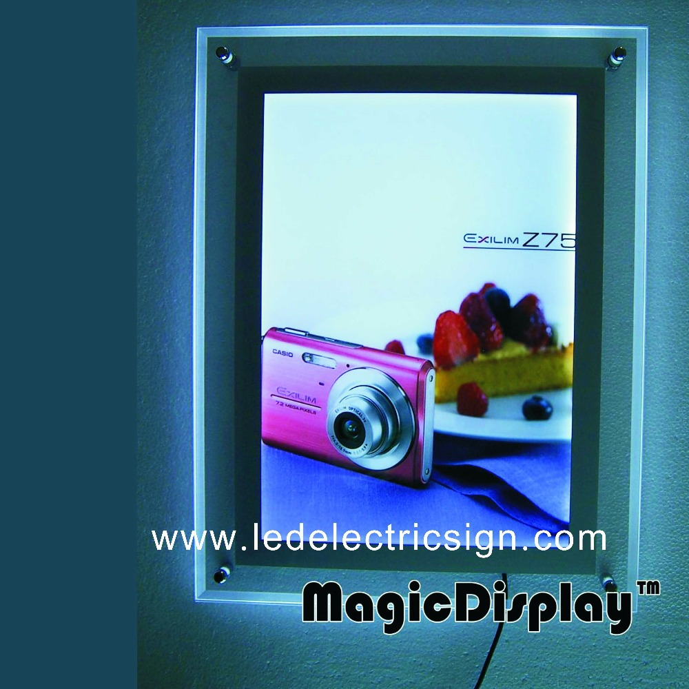 LED Crystal Acryic Frame Light Box for Advertising Display(China (Mainland))