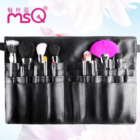 Fast DHL Original MSQ High quality 18 Pieces wool Black Pocket Makeup Brush Set Cosmetic beauty tool manufacturers direct supply