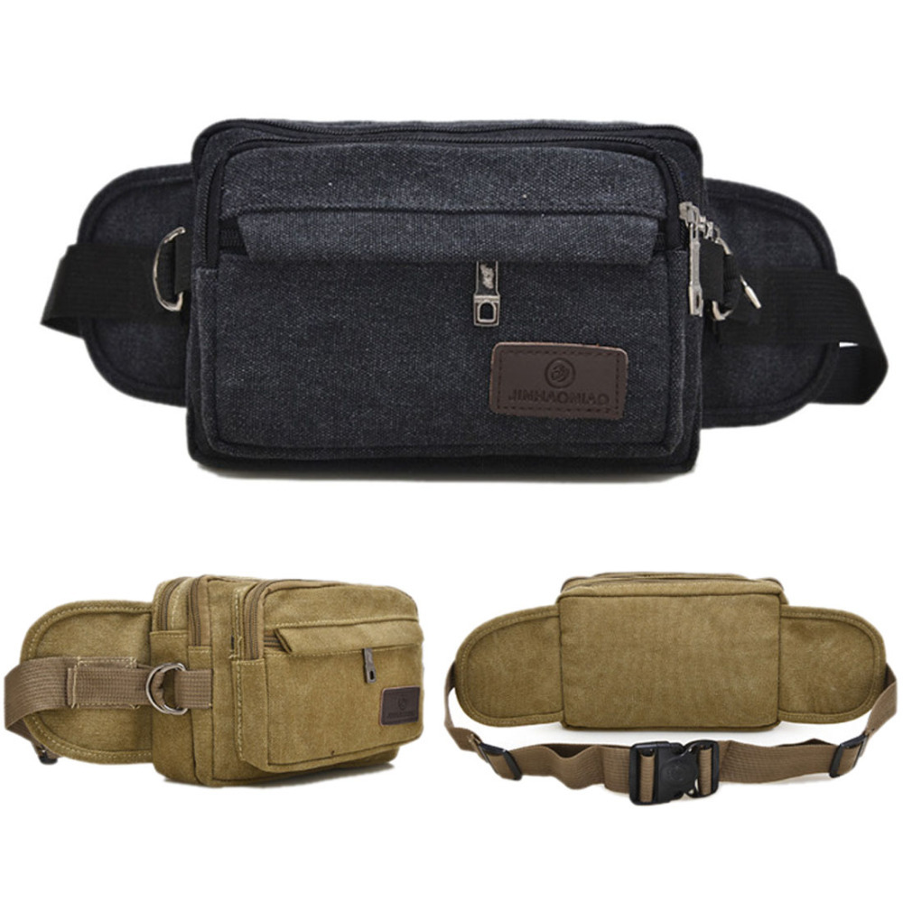 2016 New Men Canvas Tactical Military Travel Hiking Sling Chest Hip Bum Belt Pouch Purse Fanny Pack Waist Bag(China (Mainland))
