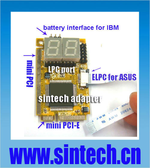Mini PCI-E+mini PCI+ELPC+ LPC port pc motherboard diagnostic post debug test card for laptop(China (Mainland))