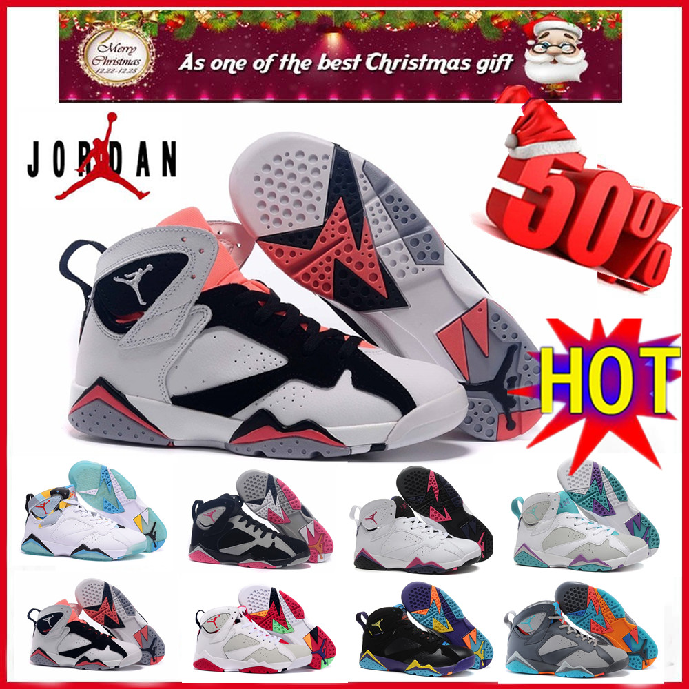 2016 2016 new air jordan 7 retro shoes women euro size 36 to 40 US 5.5 to 6.5 7 8 8.5 with original box(China (Mainland))