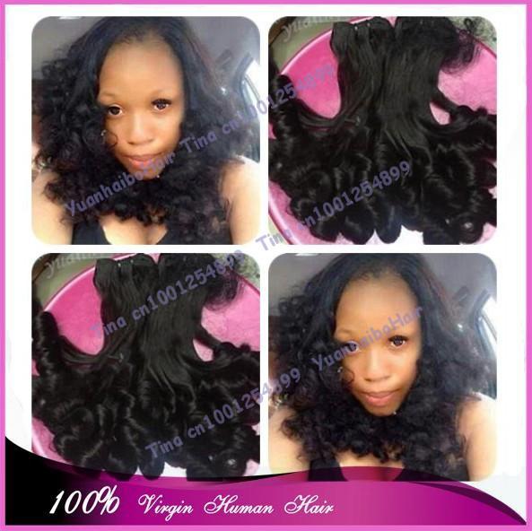 Stock! Best 6a quality 3pcs/lot #1b soft bouncy curls virgin brazilian 100funmi human hair weaves free shipping<br><br>Aliexpress