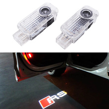 Buy 2x car door light ghost shadow welcome light logo projector emblem Audi A3 A4 A5 A6 A7 A8 R8 Q5 Q7 TT RS RS5 RS7 for $10.50 in AliExpress store