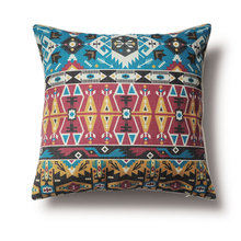 Tribal Patterns Pillow Cover,Ethnic Style Cushion Cover