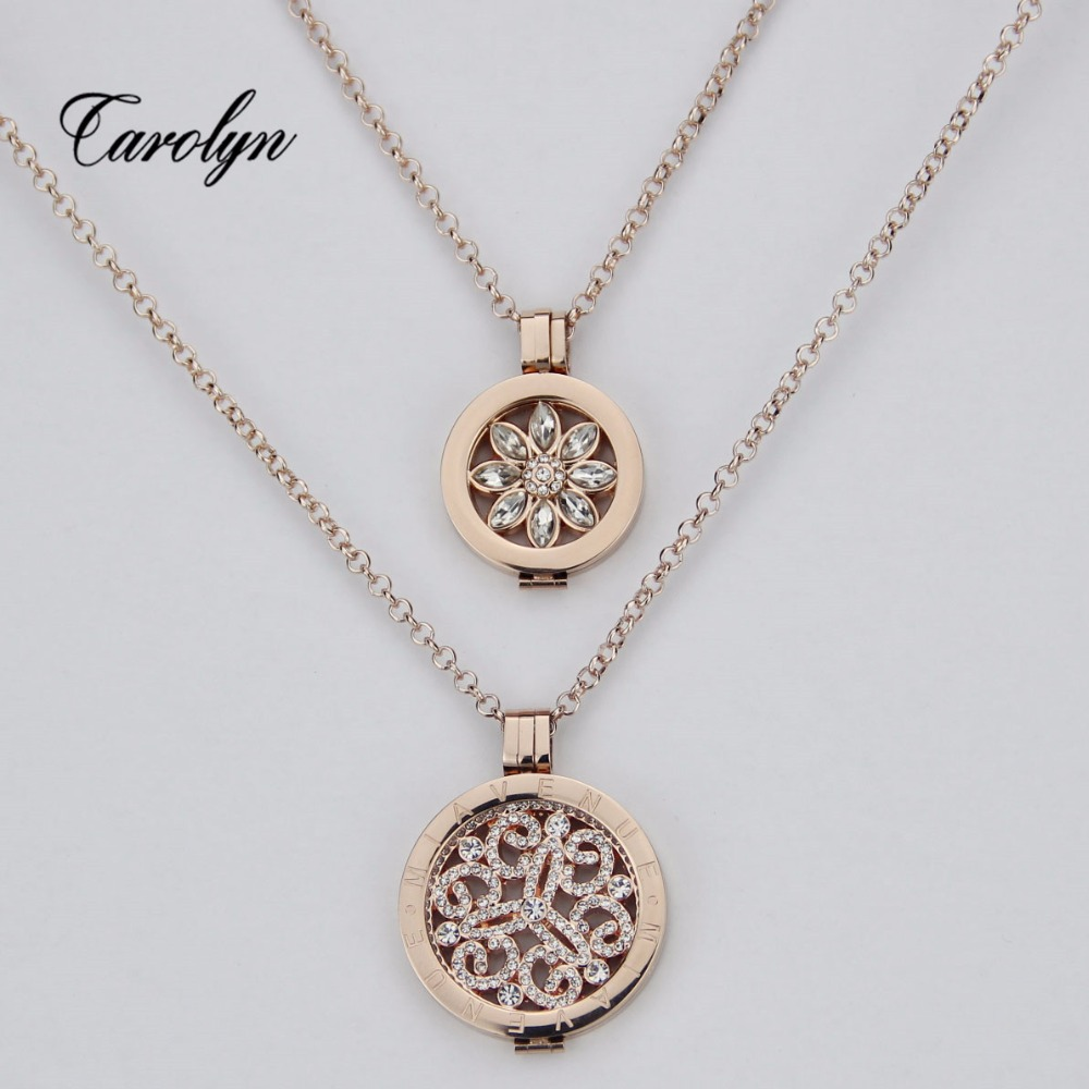 gold 2set coin pendent necklace with stainless steel