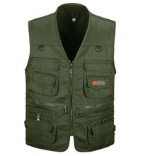 Summer Men's Photographer Vest Multi-Pockets Cheap Vests Outdoor Shooting Hunting Waistcoat Vest Walking Travel Vest L-3XL(China (Mainland))