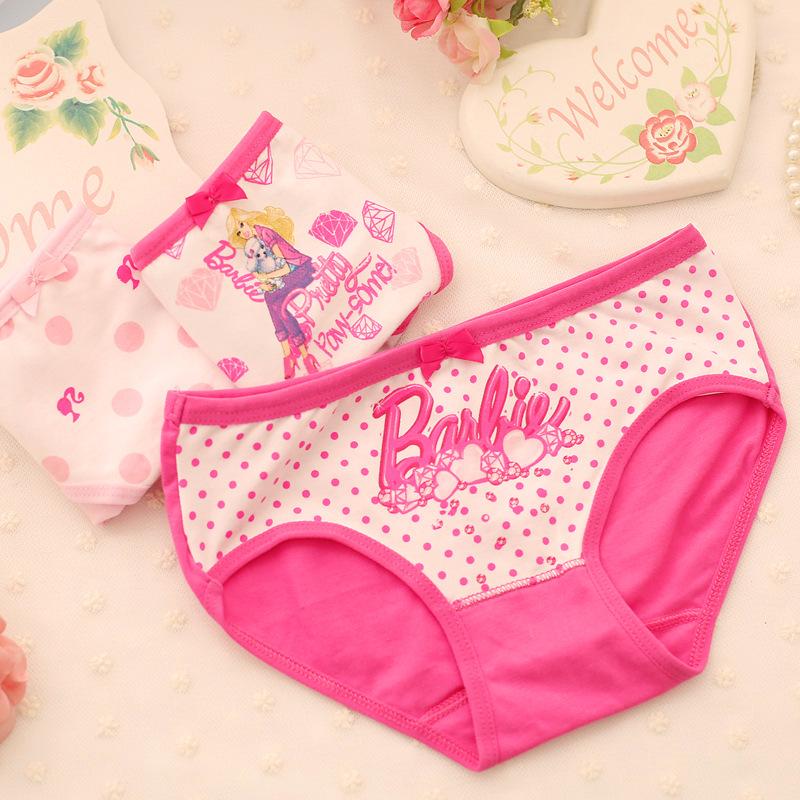Kids Panties Baby Girls' Briefs Fashion Cartoon Boxer Children Underwear Soft Cotton 2015 new calcinhas infantis 2-12T 4Pcs/lot