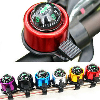 Aluminum alloy Bicycle Bell with The Compass, Brand New High Quality Bike Handlebar Ring Horn, 6 Color Choices(China (Mainland))