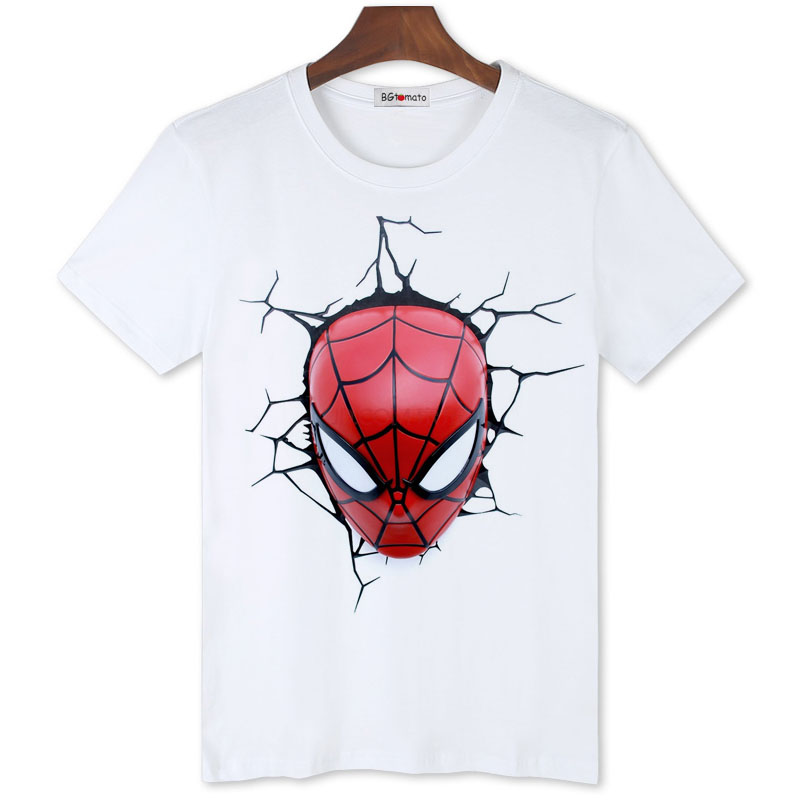 BGtomato Super cool 3D spiderman t shirt Cheap sale original brand comfortable summer shirt men fashion new style trend shirts(China (Mainland))