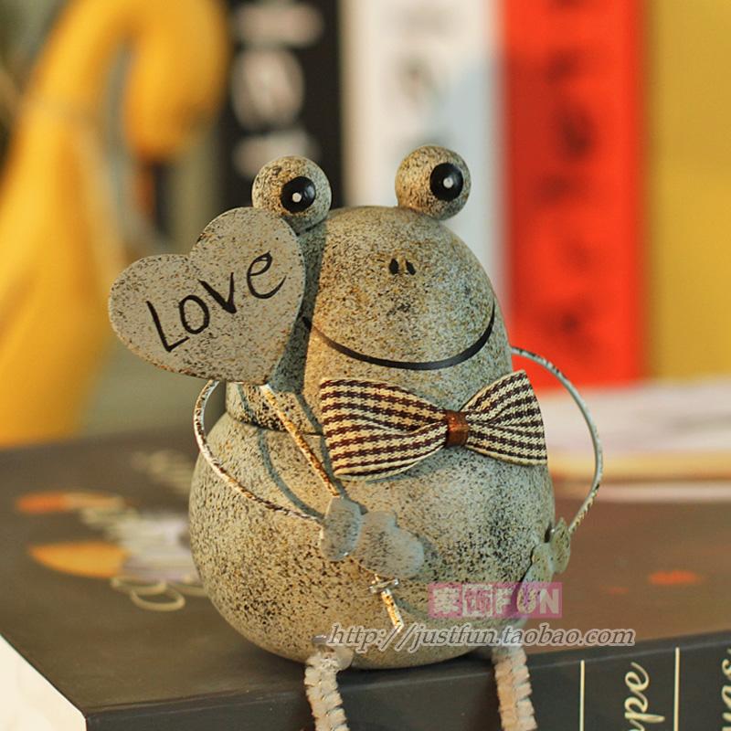 Furnishings fun vintage frog home decoration wedding gift(China (Mainland))