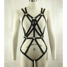 2016 new fashion pastel goth garter belt gothic body harness font b bra b font Rave