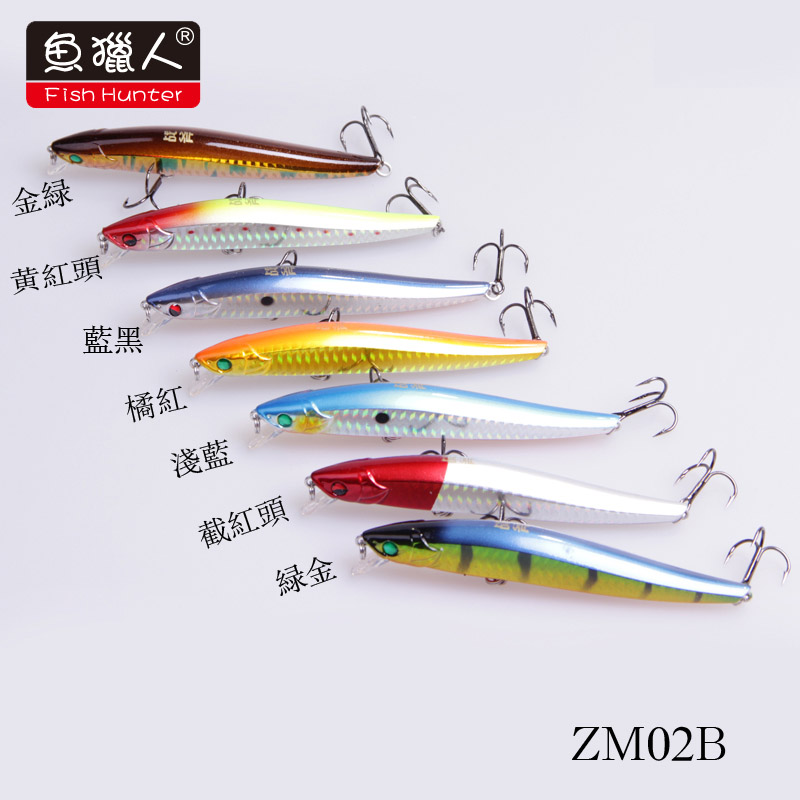 Free Shipping fish Hunter axe hard bait Mino minnow ZM02B 115mm 16g floating 1 5M lure