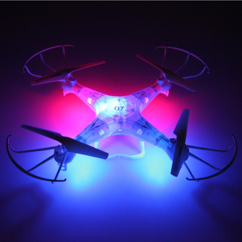 FY326 Q7 2.4G 6-Axis Gyro 4-CH UFO RC Quad-copter Mini RC Quadcopter Drone Helicopter RC Toy  with LED Ligh Free Shipping