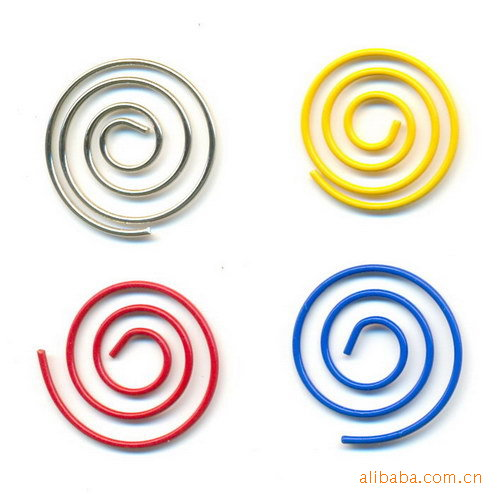 Creative cartoon Cute Color spiral paper clips, paper clips creative stationery, Korea creative students clips(China (Mainland))
