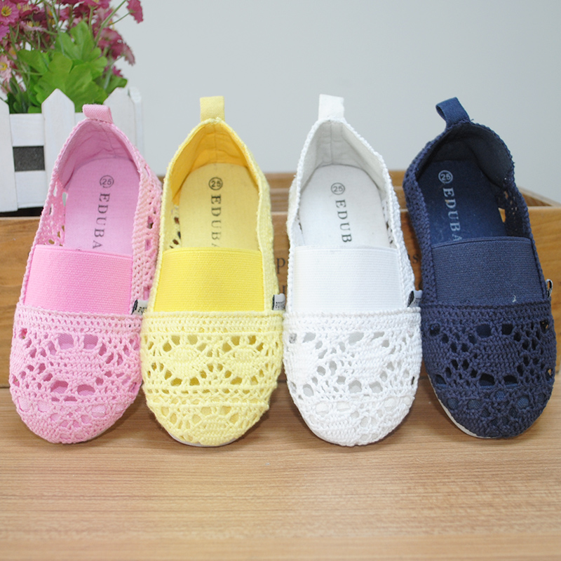 Breathable Knitted Mesh Shoes Soft Children Sandals Kids Shoes Baby Girls Sandal Candy Color Child Soft Lazy Shoes